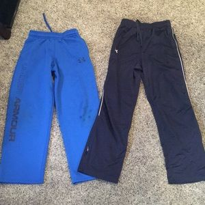 Boys under Armour sweats- two pair lot